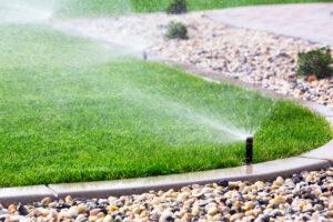 Fixed garden sprinkler system